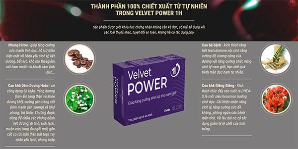 viên uống Velvet Power 1h